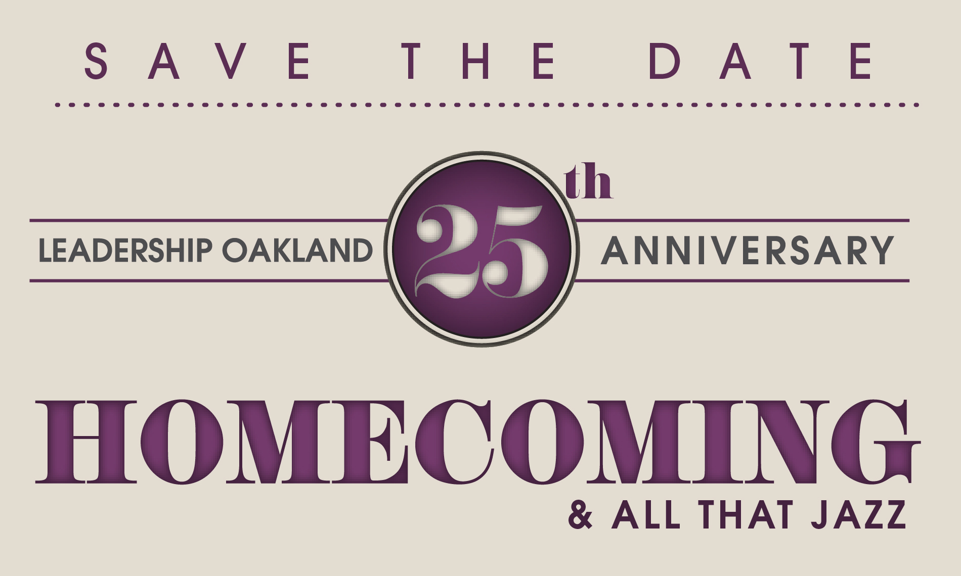 25th Anniversary - Save the Date